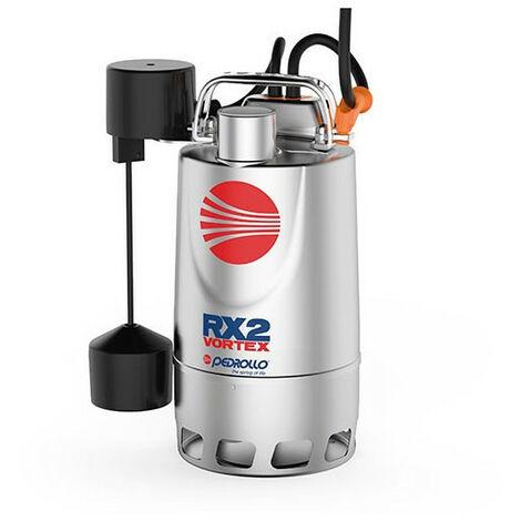 Pompe de relevage Pedrollo RXm220VortexGM 0,37 kW jusqu'à 10,8 m3/h monophasé 220V