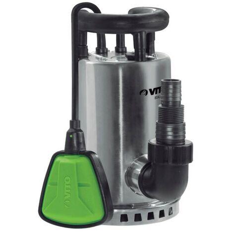 Pompe d'évacuation 550W VITOGARDEN Eaux claires Vide Eaux de pluie Caves /piscines Acier Inoxydable Cable 10m