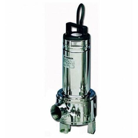 Pompe d'évacuation pour relever l'eau dans les égouts immergée Lowara DOMO15T 1,1 Kw triphasé Roue Bicanale en acier solides 50 mm puisard