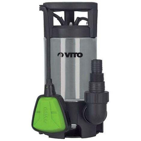 Pompe d'évacuation VITO pour eaux chargées 400W - Vide piscine, eaux de pluie, cave - Câble électrique 10m