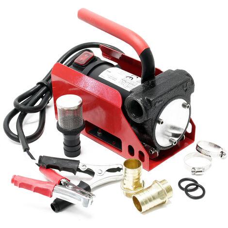 Pompe diesel auto-amorçante 12V avec 40l/min pour gazole & huile de chauffage