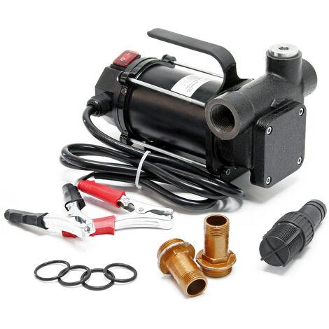 Pompe Diesel Auto aspirante 80l/min 550 Watts 12V Hauteur d'aspiration 3m Fuel Pompe à huile Gasoil