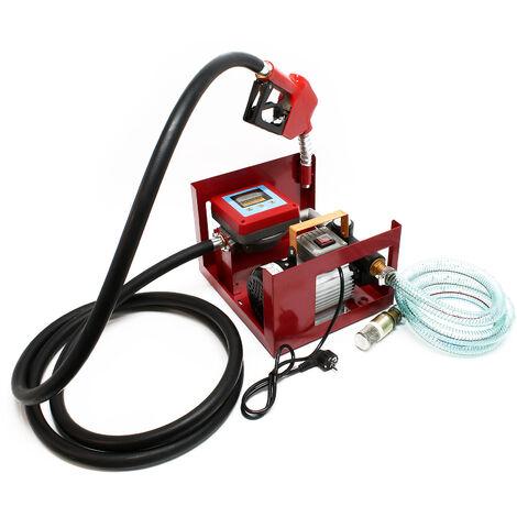 Pompe Diesel-Fuel Auto-amorçante 230V 550W 60l/min Compteur numérique Pistolet distributeur Tuyaux