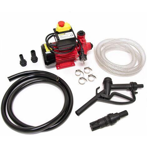 Pompe diesel huile moteur avec tuyaux et pistolets - clapet- 40 litres/min 600W