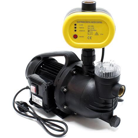 Pompe domestique Pompe de jardin 1100W 4600l/h filtre à charpie Pressostat