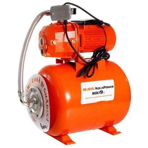 Pompe eau hydrophore 1100W cuve 50 litres 1800 l/h RURIS AquaPower 8009