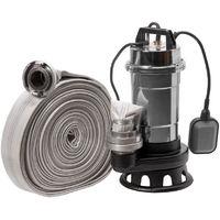 Pompe eaux chargées+broyeur Röhtenbach NITRO2850+20M 550W 230V tuyau 20m