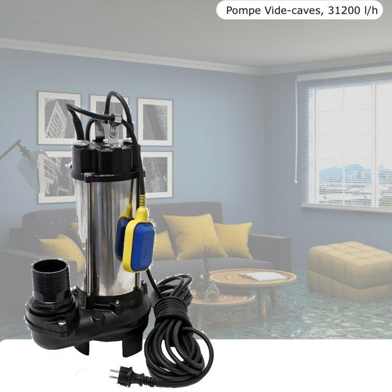 Le Poisson Qui Jardine - Pompe de refoulement d'eaux sales ou vide caves 31200 l/h