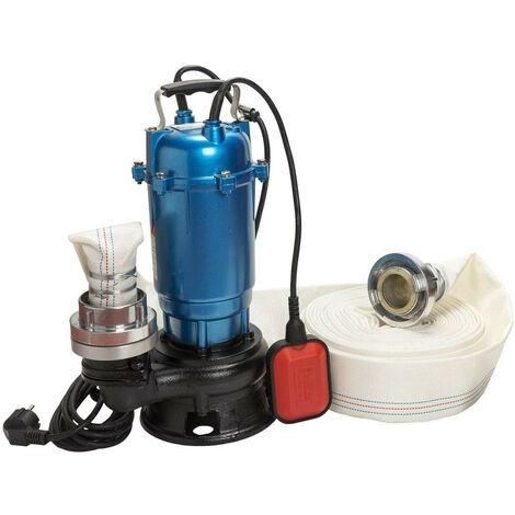 Pompe eaux usées, MAGNUM550+20M, 550W, 300l/min, petite taille+tuyau