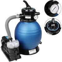 Pompe filtre à sable 9.600 L/h avec pré-filtre Système de filtration Eau piscine