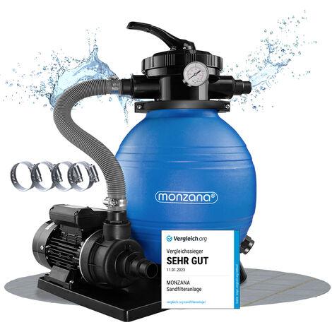 Pompe filtre à sable et particule 10200 l/h avec pompe Piscine nettoyage TÜV certifié
