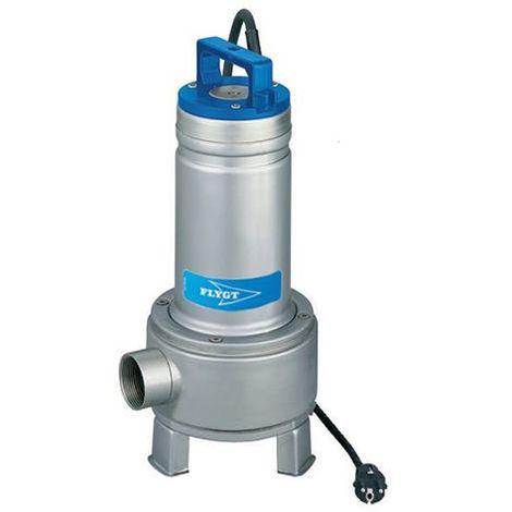 Pompe FLYGT de relevage DELINOX pour eaux usées - Débit max : 36 m3/h - Hauteur max : 12,5 m - Sortie Rp 2'' - Monophasé 230V 50Hz - 1,1 kW - type DXM 50-11 SG