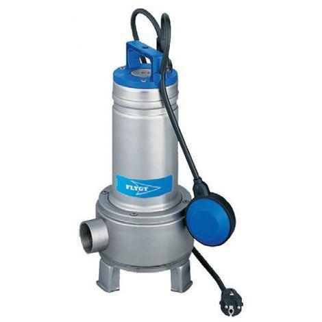 Pompe FLYGT de relevage DELINOX roue Vortex pour eaux usées - Débit max : 24 m3/h - Hauteur max : 7,5 m - Sortie Rp 2'' - Monophasé 230V 50Hz - 0,75 kW- avec flotteur - type DXVM 50-7