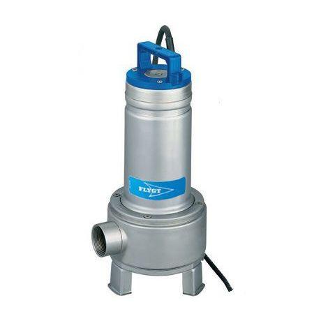 Pompe FLYGT de relevage DELINOX roue Vortex pour eaux usées - Débit max : 33 m3/h - Hauteur max : 11 m - Sortie Rp 2'' - Triphasé 400V 50Hz - 1,5 KW - type DXV 50-15