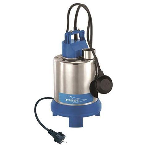 Pompe FLYGT vide cave STEELINOX roue Vortex pour eaux faiblement chargées - Débit max : 10,5 m3/h - Hauteur max : 7 m