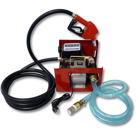 Pompe � Fuel ou Gasoil bio Autoaspirante 230V/550W 60l/min Mobile Pistolet Auto.