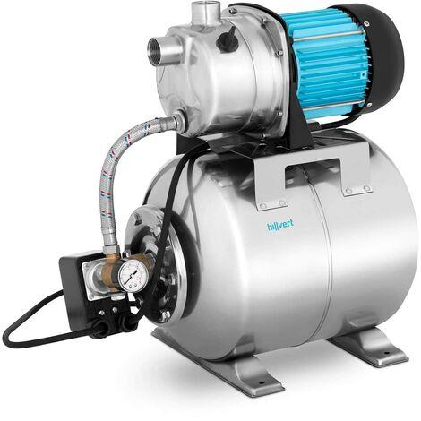 Pompe Groupe Surpresseur Hydrophore 3500L/H 1200 W Auto-Amorçage Préfiltre Inox