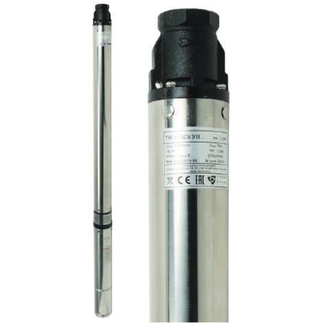 Pompe immergée 3,5 SC 2/14, 70 l/min, 1100W, 400V, triphasée