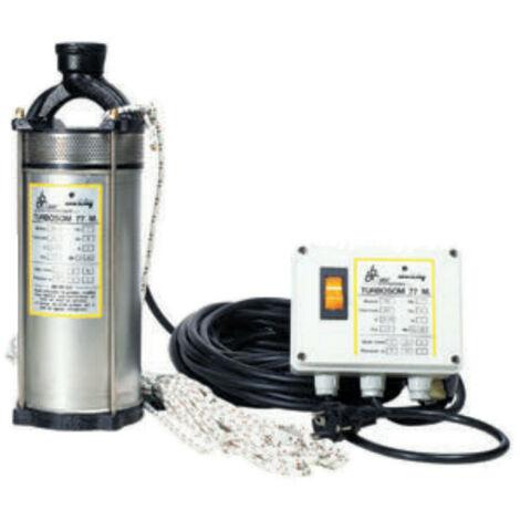Pompe immergée DAB TURBOSOM77M 0,75 kW pour puit profond jusqu'à 2,4 m3/h monophasé 220V