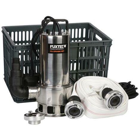 Pompe immergée INOX 1100 W FUXTEC FX-TP11100 SET - 15000 litres par heure