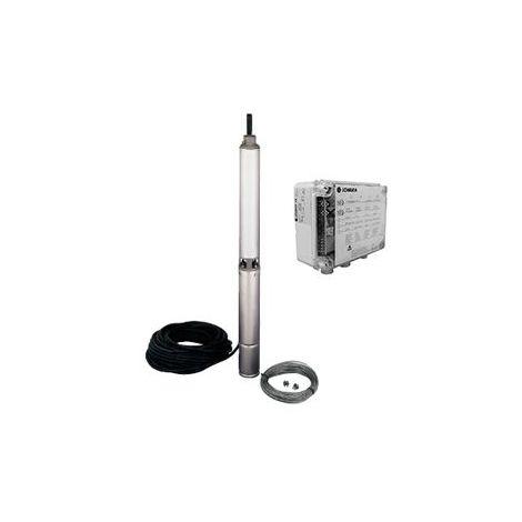 Pompe LOWARA 4GS07M K/QPCS de forage 4'' GS - 5,4 m3/h - 60 m - Rp 1''¼ - Mono 230V - 50Hz - 0,75 kW - avec 40 m de câble et coffret QPCS