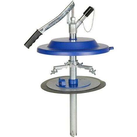 Pompe manuelle de remplissage de graisse, convient aux seaux : 50 kg, Pour seau de Ø intérieur 365-385 mm, Long. du tuyau de pompe 680 mm