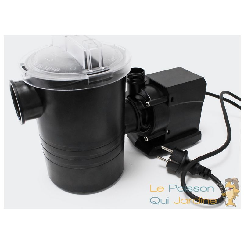 Le Poisson Qui Jardine - Pompe piscine de 8500 l/h - 120 W avec pré filtre de protection