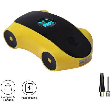 Pompe portative de compresseur d'air de voiture, gonfleur de pneu électrique numérique automatique de LED d'éclairage 12V avec la pompe portative de compresseur d'air de jauge
