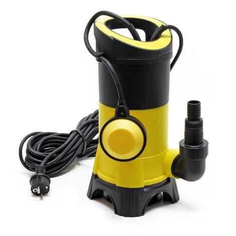Pompe pour eaux usées 15.000l/h 1100W hauteur de refoulement 11m particules jusqu'à Ø35mm