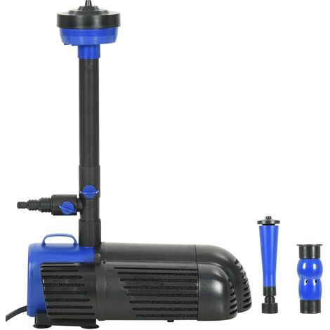 Pompe pour fontaine 85 W 3 000 L / h bleu et noir