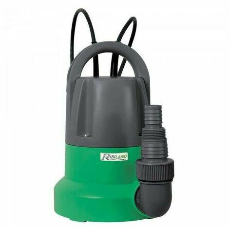 Pompe serpillere vide-cave eaux claires 400 Watts + interrupteur flotteur 400 W Ribimex