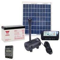 Pompe solaire 980L/h: kit complet avec panneau solaire & batterie
