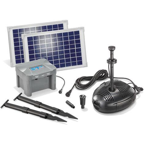 """main image of """"Pompe solaire de bassin avec batterie rechargeable 20W Pompe solaire de jardin Pompe de bassin étang esotec 101724"""""""