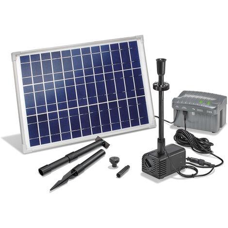 Pompe solaire de bassin avec batterie rechargeable Pompe solaire 20W pour pompe de bassin de jardin esotec 101780