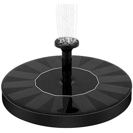 Pompe Solaire Fontaine Bain 7V / 1.5W- 1,6W Autoportante Energie Solaire Flottant Portable Pompe A Eau Fontaine Pour Le Jardin Arriere Etang Piscine Exterieure