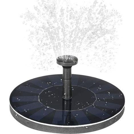 Pompe Solaire Pompe à Eau Solaire Panneau Solaire Fontaine pour Bassin ou Jardin Pome avec Panneau Solaire monocristallin et Pompe sans balais [Classe énergétique A] [Classe énergétique A]