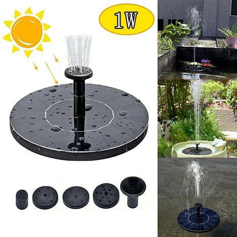 Pompe solaire, pompes à eau solaires flottantes flottantes pour bain d'oiseaux 1W pour jardin multicolore