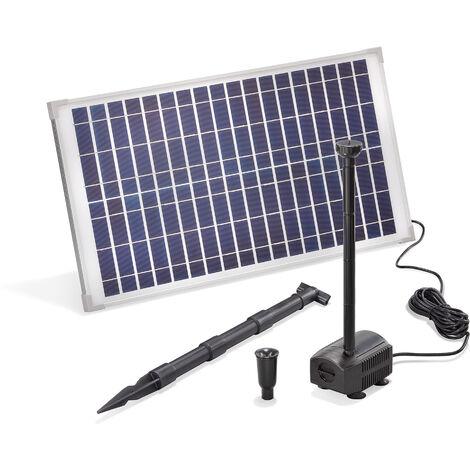Pompe solaire pour bassin 25W 875 l/h Pompe solaire pour bassin de jardin Fontaine esotec 101913