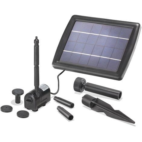 Pompe solaire pour bassin 2W 175l/h Pompe solaire pour bassin de jardin Kit de pompe pour bassin esotec 101010