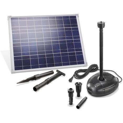 Pompe solaire pour bassin 35W 1700 l/h Pompe solaire pour bassin de jardin Pompe pour bassin esotec 101723