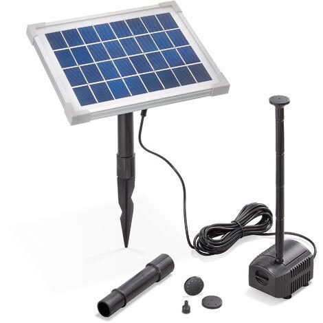 """main image of """"Pompe solaire pour bassin 5W 250 l/h Pompe solaire pour bassin de jardin esotec 101909"""""""