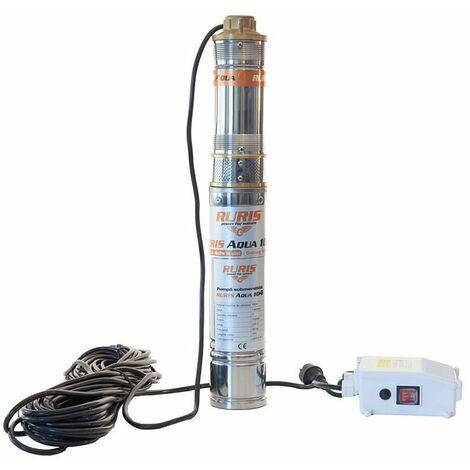 Pompe submersible 1100W débit 1,8m3/h décharge 100m stator cuivre Ruris Aqua 103