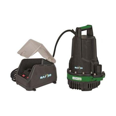 Pompe vide-cave r-bat20 eaux claires a batterie sans batterie ni chargeur