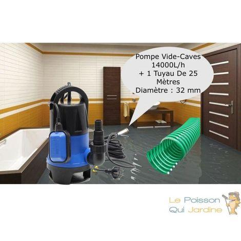 Pompe Vide Caves 14000 l/h + 25m de tuyau, Irrigation, Vidanges