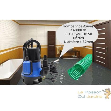 Pompe Vide Caves 14000 l/h + 50 m de tuyau, Irrigation, Vidanges