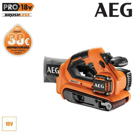 Ponceuse à bande brushless AEG 18 V 75mm sans batterie ni chargeur BHBS1875BL-0