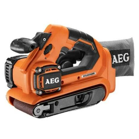 Ponceuse à bande brushless AEG 18V 75mm sans batterie ni chargeur BHBS1875BL-0