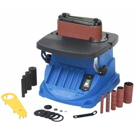 Ponceuse à bande et à axe oscillant 450 W Bleu