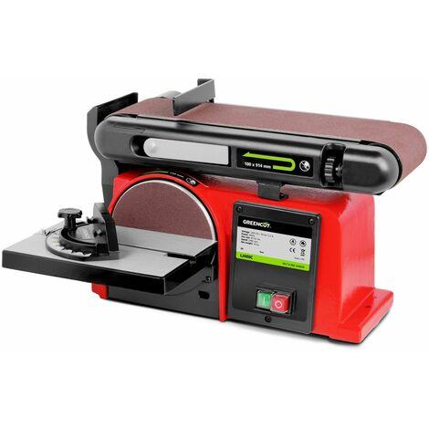 Ponceuse a bande et a disque electrique 400W 2980rpm outil de polissage - GREENCUT
