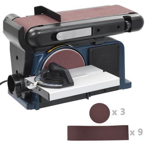 Ponceuse a disque et a bande electrique 370 W 150 mm